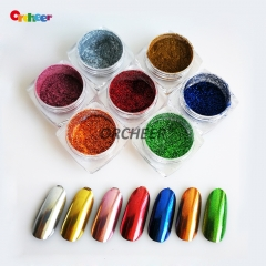 Magic chrome mirror effect nail pigment