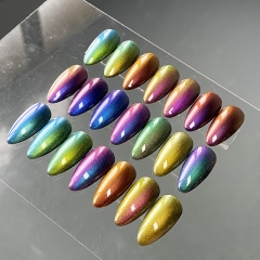 Orcheer Chameleon chrome effect Fine Nail powder